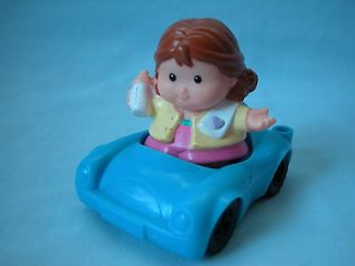 fp little people family blue car mom w bottle driver