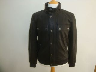 michael kors leather bomber jacket fw12 new