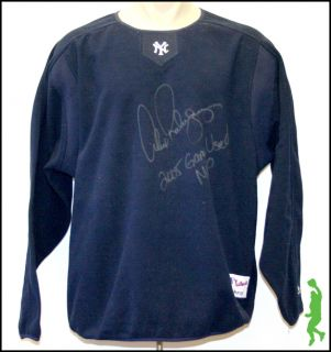 ALEX RODRIGUEZ SIGNED AUTO GAME USED NEW YORK YANKEES FLEECE SHIRT MVP