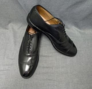 Men Allen Edmonds Park Ave Black Leather Lace Dress Shoe 10C Narrow