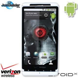 White New Motorola Droid x Android WiFi GPS 8MP Cell Phone No Contract