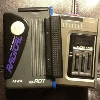 Vintage Aiwa Am Fm Cassette Player. Portable. Radical. Hs rd7