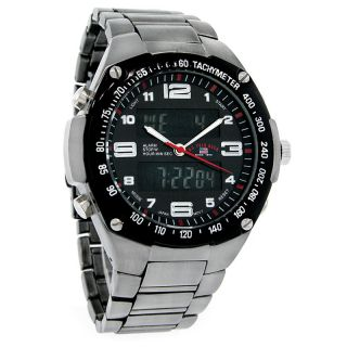 Polo Assn Mens B1 Chronograph Analog Digital Sport Watch US8464