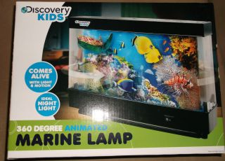 DISCOVERY KIDS 360 DEGREE ANIMATED MARINE FISH AQUARIUM LAMP LIGHT
