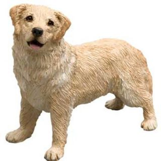 CUTE GOLDEN RETRIEVER DOG STATUE MID SIZE FIGURINE SCULPTURE