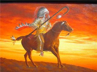 Ann Sprague Western Native American Indian Oil Painting