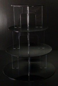 tier black acrylic cupcake party wedding cake stand we
