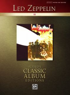 Led Zeppelin II Alfreds Classic Album Editions 2006, Paperback