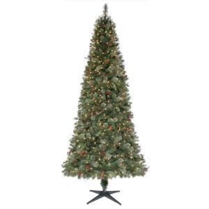 Martha Stewart Living 9 ft. Pre Lit Paley Pine Christmas Tree with