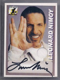 STAR TREK FX Exclusive LEONARD NIMOY SIGNED CLOTHING CARD 1 75