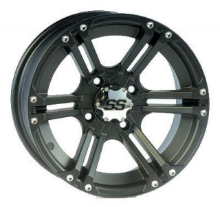 Suzuki King Quad ATV Wheels ITP SS212 Black Rims 12