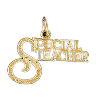 Dazzlers 14k Yellow Gold Special Teacher Charm 10711