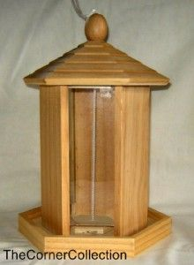 true living wooden wild bird feeder