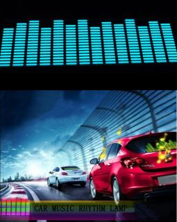 Sound music Activated Car Stickers Equalizer Glow Blue Light 45 11cm