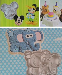 1pcs Aluminum Mickey Elephant Bear Cake Pan Bakeware DIY Decorating