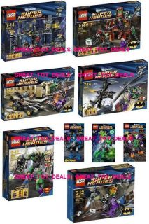 9x New Super Heros Batman Lego Sets 4526 4527 4528 6857 6858 6860 6862