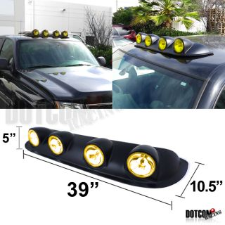 Roof Top 4x4 Off Road Fog Lights Bar SUV Jeep RV Driving Lamp H3 Bulbs