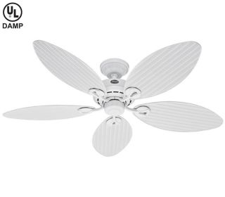 Hunter 54 Bayview White Outdoor Ceiling Fan 23979