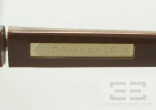 BCBG Max Azria Brown Rectangular Frame Ceres Eyeglasses