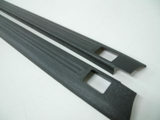 Ribbed Finish Truck Bed Rail Caps with Stake Holes 2 Piece