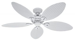Hunter Bayview 54 Ceiling Fan Model 23979 in White with Reversible