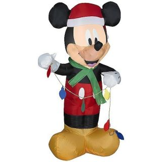 NEW GEMMY AIRBLOWN INFLATABLE CHRISTMAS disney mickey mouse LED LIGHT