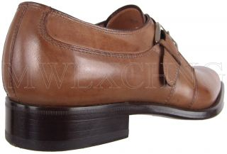 Francesco Benigno Monk Strap Loafers UK 8 Italian Designer Mens Shoes