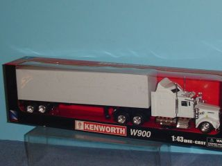 Kenworth W900 Sleeper Big Rig Frieght Truck 1 43 White