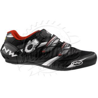 wave vertigo pro sbs road cycling shoes black white red