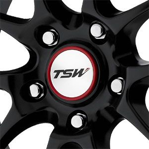 New 17X8 5 112 Trackstar 5 Lug Flat Black Red Lip Wheels/Rims