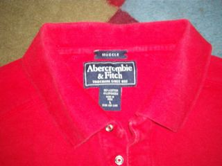 Abercrombie Fitch Polo Shirt Sewn A F Logo Large