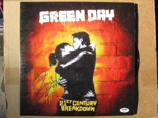 Billie Joe Armstrong signed Green Day Album Cover 21st Century