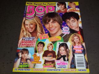 Bop Magazine Ashley Tisdale Efron Billie Joe Armstrong BT 8531
