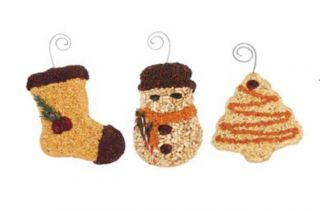 Christmas Mr Bird Food Treats Gift Pack of 3 Ornament Wild Bird Feeder
