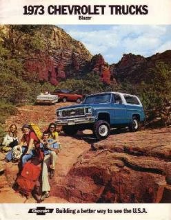 1973 Chevrolet Blazer Sales Brochure Literature Advertisement Options