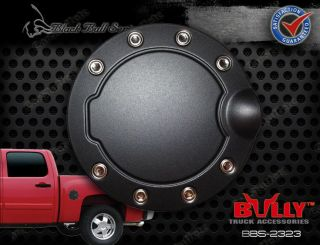 Black Powder Coated Stainless Steel Gas Fuel Door Cover Ford F 150