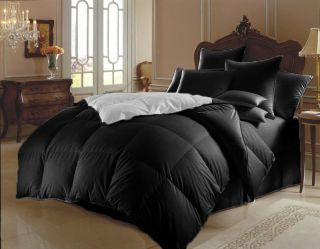 10pc New Soft Black White Reversible Comforter Sheet Set King Size Bed