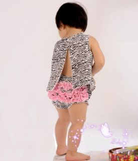 Satin Lace Ruffled Ruffle Bloomer Baby Girl Diaper Cover Panty