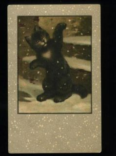 black cat style louis wain vintage kng pc description age vintage