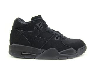 Mens Nike Air Flight 89 Basketball Shoes Black Black Black