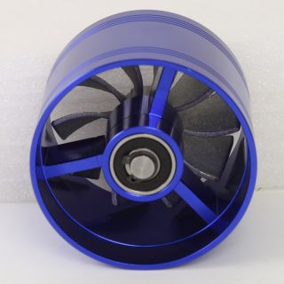Blue Turbonator Turbo Air Intake Fuel Gas Saver Fan Kit