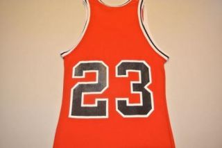 Vtg Sand Knit No Name Michael Jordan Chicago Bulls Sand Knit Jersey XS