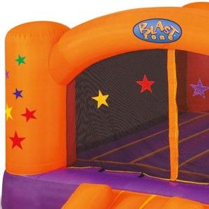 Blast Zone Superstar Party Moonwalk Inflatable Bounce House Purple