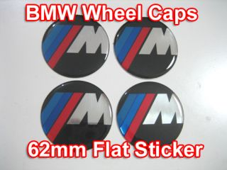 bmw m wheel center caps emblem sticker flat a565