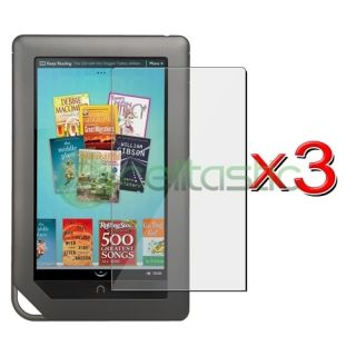 3pcs Screen Protector Cover for Tablet Barnes Noble Nook Color