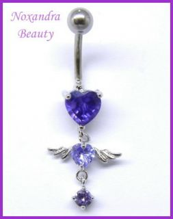 Rinestone 316L Steel Navel Belly Ring Body Piercing Jewelry
