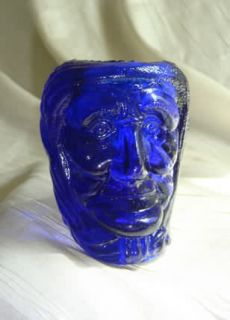 Witch's Head Toothpick Holder Cobalt Blue Glass