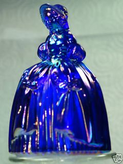 Boyd Glass Marguerite Doll Cobalt Blue Carnival
