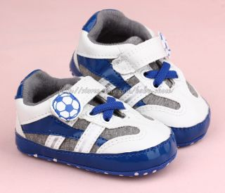 Toddler Baby Boys Football Crib Shoes Soccer Trainer Size Newborn to