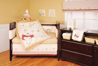 Named Pooh Crib Set Mobile Decals Boy Girl Neutral Nursery Set